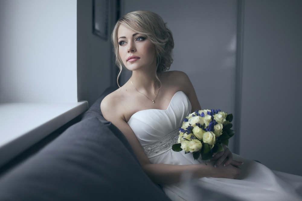 Wedding make up and hair style with flower bookey-Melbourne