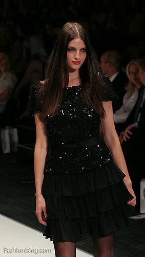 black dress bold makeup look Sydney