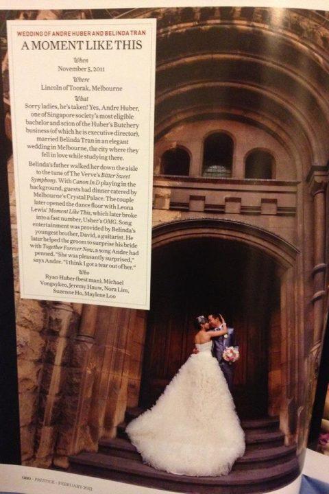 Andre Huber wedding Publication Melbourne