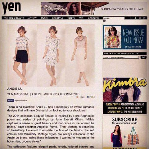 yen magazine model make up